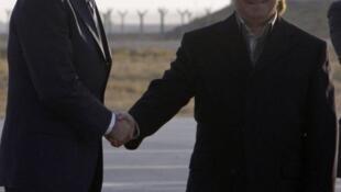 Joe Biden, vicepresidente norteamericano, y Masud Barzani,  presidente del Kurdistán, en Arbil el 1° de diciembre de 2011