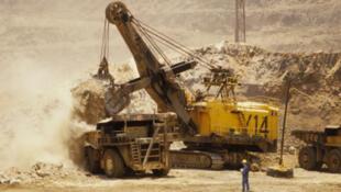 Exploitation d'une mine à ciel ouvert en Zambie.