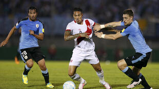 Paolo Guerrero (centre) was expected to lend his experience to Peru's first visit to the World Cup since 1982.