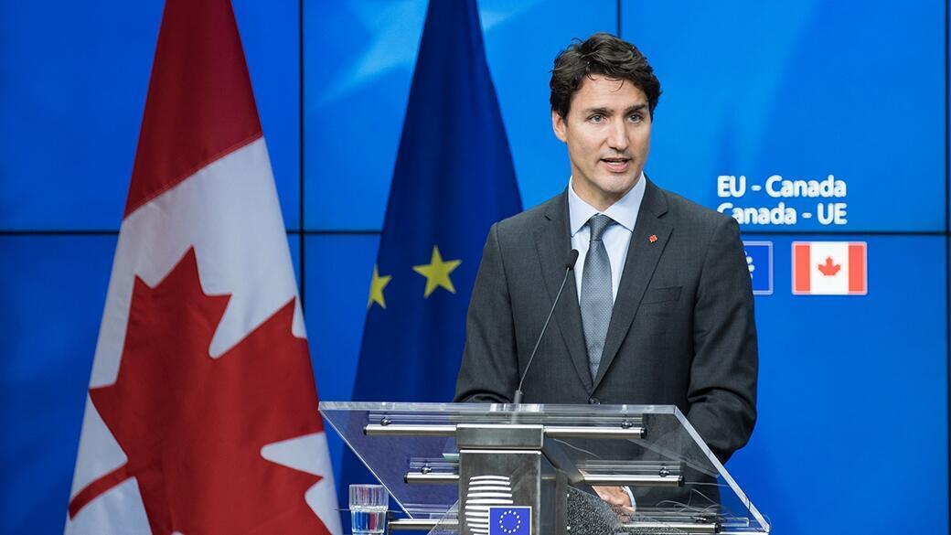 جاستین ترودو نخست وزیر  کانادا در پارلمان اروپا