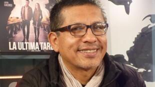 Joel Calero en los estudios de RFI