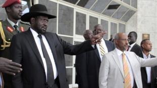 Shugaban kasar Soudan ta Kudu Salva Kiir a birnin Addis Ababa na Habasha