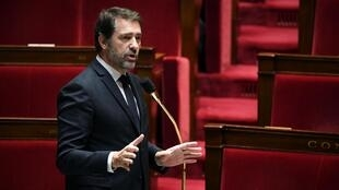 Le ministre de l'Intérieur français, Christophe Castaner, à l'Assemblée nationale le 7 avril 2020.