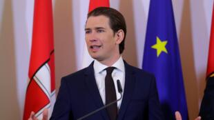 Le chancelier autrichien et président du parti chrétien-démocrate Sebastian Kurz.