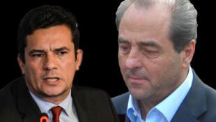 Sérgio Moro e Di Pietro: juízes das operações Lava Jato e Mãos Limpas