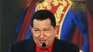 Le président Hugo Chavez à Caracas, le 16 juillet 2010.