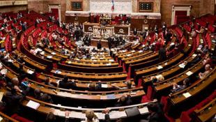 L'hémicyle de l'Assemblée nationale à Paris.