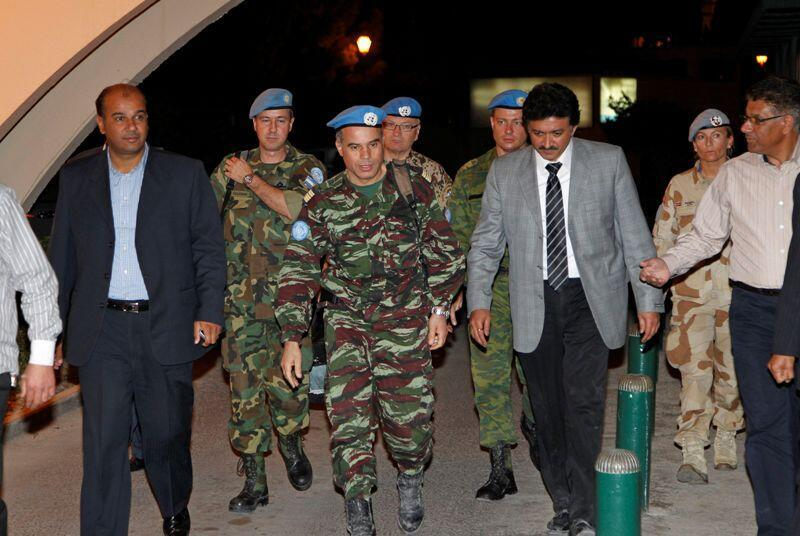 Waangalizi wa Umoja wa Mataifa UN waliopo nchini Syria kufanya tathmini wakiongozi na Mkuu wao Kanali Ahmed Himmiche