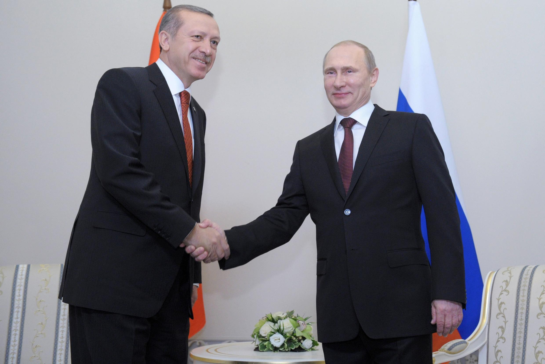 Встреча В. Путина с премьер-министром Турции Эрдоганом в Стрельне под Санкт-Петербургом 22/11/2013