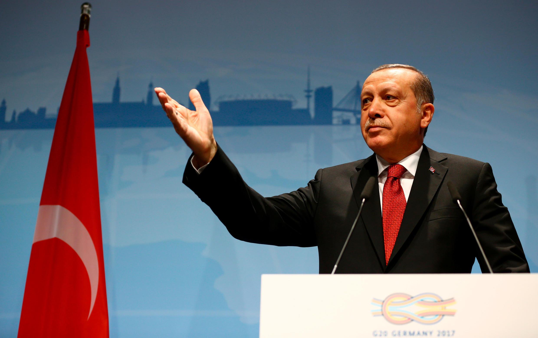 Shugaban kasar Turkiya, Recep Tayyip Erdogan.