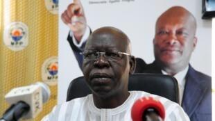 Salifou Diallo, défunt président du Parlement burkinabè, ici le 3 décembre 2015.
