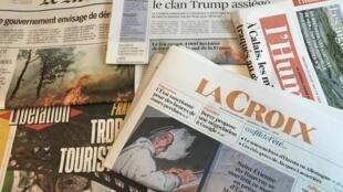 Primeiras páginas dos diários franceses 26/7/2017