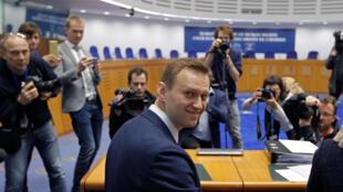 Lãnh đạo đối lập Nga Alexei Navalny tại Tòa Án Nhân Quyền Châu Âu (CEDH), Strasbourg, ngày 24/01/2018.