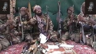 A screengrab taken on 25 September, 2013 from a video shows a man claiming to be the leader of Boko Haram, Abubakar Shekau