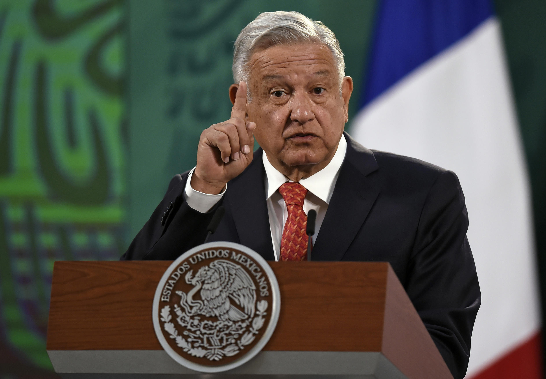 El presidente de México, Andrés Manuel López Obrador, habla el 29 de marzo de 2021 en la capital mexicana
