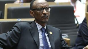 Paul Kagame lors d'une réunion des chefs d'Etat de l'Union Africaine, le 30 janvier 2015.