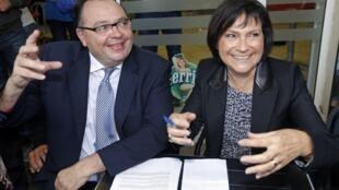 Os deputados socialistas Patrick Mennucci e Marie-Arlette Carlotti, em imagem de 2014, assinaram a petição sobre a legalização da maconha.