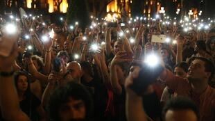 Акция протеста у здания грузинского парламента, Тбилиси, 22 июня 2019