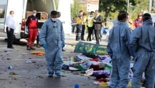 Atentado de Ancara que provocou, este fim-de-semana, a morte a 97 pessoas e deixou centenas de feridos
