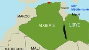 L'Algérie et la Libye, deux pays voisins qui partagent une large frontière commune.