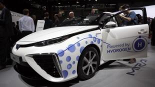 Un véhicule à hydrogène au salon de l'automobile de Paris en 2016.