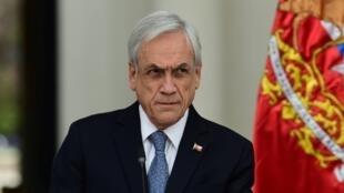 El presidente chileno Sebastián Piñera en Santiago, el 27 de noviembre de 2019