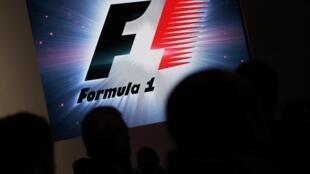 Logo de la F1 durante una conferencia de prensa, este 23 de julio en la Ciudad de México.