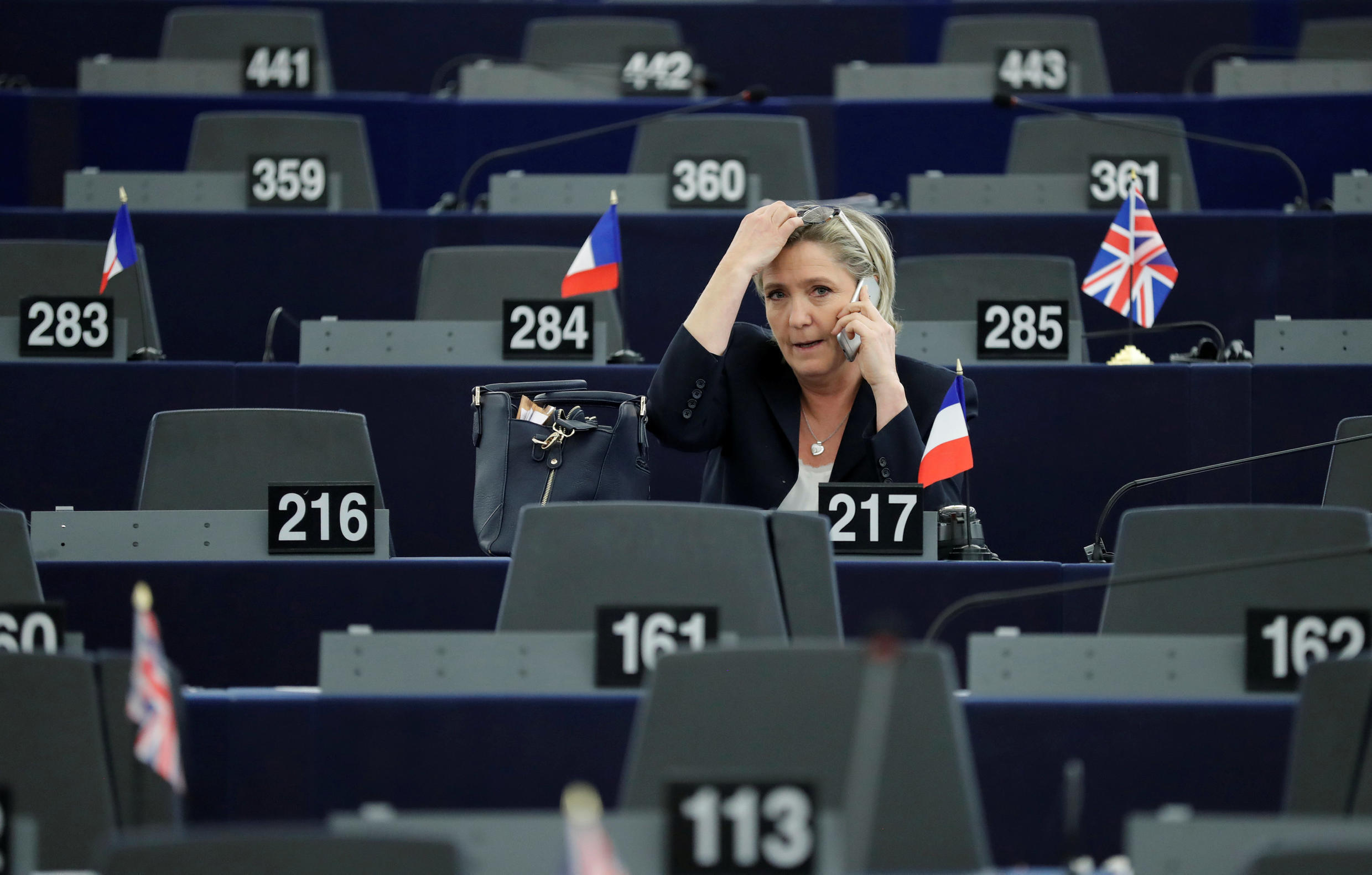 Marine Le Pen, French National Front (FN) political party leader and Member of the European Parliament, attends the election of the new President of the European Parliament in Strasbourg, France, January 17, 2017.