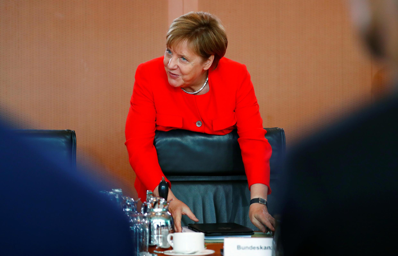 德国总理默克尔出席内阁周会2018年8月15日柏林