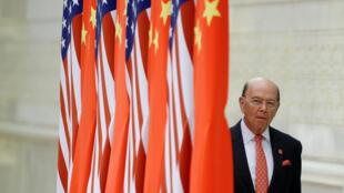 Bộ trưởng Thương Mại Mỹ Wilbur Ross tới Bắc Kinh, ngày 2/6/2018.