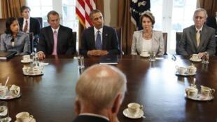 O presidente Barack Obama em discursão no congresso sobre o dossier da Síria.