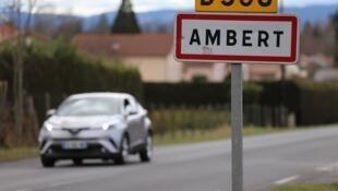 Entrée de la ville d'Ambert dans le Puy-de-Dôme