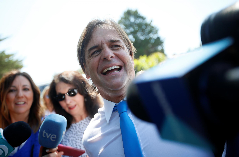 O presidente eleito do Uruguai Luis Lacalle Pou, que assumiu a presidência neste domingo