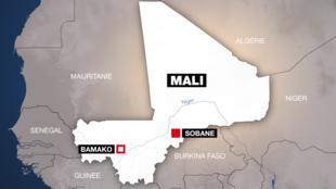 La localité de Sobane a été le théâtre du massacre d'une centaine de personnes, dimanche 9 juin 2019.