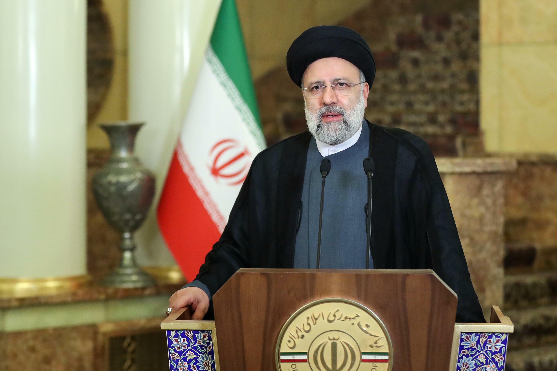 Iranian President Ebrahim Raisi addresses the UN General Assembly virtually from Tehran