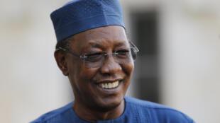 El presidente de Chad, Idriss Déby Itno, el 20 de abril de 2021 en la ciudad francesa de Pau