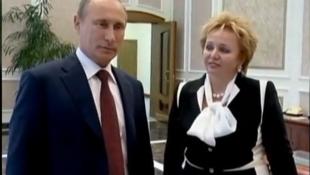 Владимир Путин и Людмила Путина во время объявления о разводе