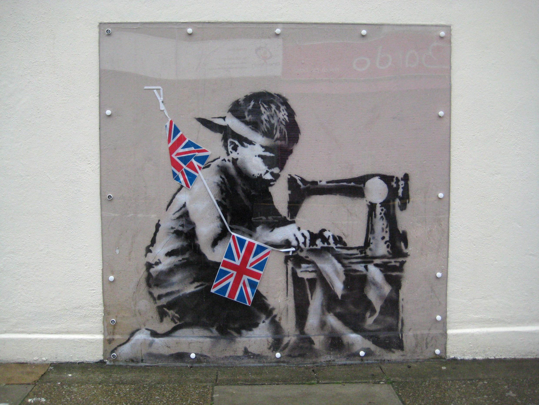 Một bức hình minh họa về tình trạng nô lệ trẻ em tại Anh Quốc.
