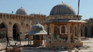 La Mesquita de Omayad en la ciudad de Alepo, Siria.