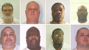 Fotomontagem de prisioneiros condenados à morte no Departamento de Correção de Arkansas. 21/03/17