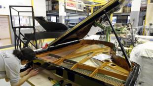 Fábrica de pianos Pleyel, en París.