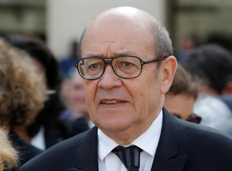 Chefe da diplomacia francesa Jean-Yves Le Drian