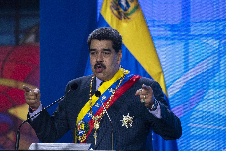 Venezuelan President Nicolas Maduro, seen speaking on January 22, 2021, has voiced hope of better relations with the United States under President Joe Biden