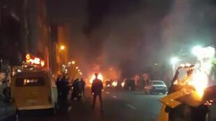 Des manifestants à Téhéran, ce 30 décembre 2017.