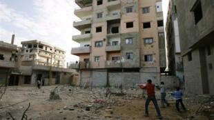 Près de 300 000 réfugiés palestiniens vivent dans des conditions déplorables dans des camps au Liban comme ici à Nahr el Bared, en banlieue de Tripoli.