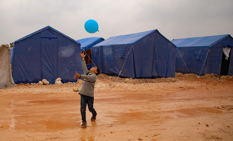 Лагерь беженцев в Сирии, провинция Идлиб.
