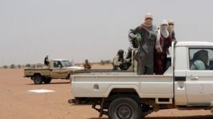 Combattants d'Ansar Dine dans la région de Kidal, en août 2012.