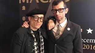 Os realizadores portugueses João Guerra da Mata e João Pedro Rodrigues no Festival de cinema de Macau a 13 de Dezembro de 2016