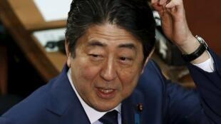 圖為日本首相安倍晉三