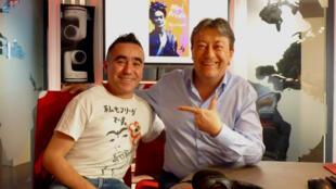 El mexicano Miguel Vaylon con Jordi Batallé en RFI